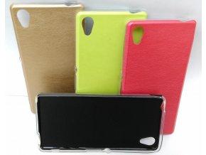 Pouzdro Jelly Leather Case pro Sony E5603 Xperia M5 - černé