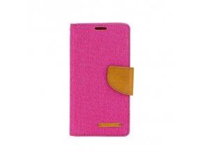 Pouzdro Canvas Mercury Book - Microsoft Lumia 535 - růžové