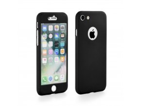 Pouzdro 360 Full Body + Tvrzené sklo Apple Iphone X černé