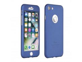 Pouzdro 360 Full Body + Tvrzené sklo Apple Iphone X modré
