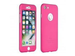 Pouzdro 360 Full Body + Tvrzené sklo Apple Iphone X růžové