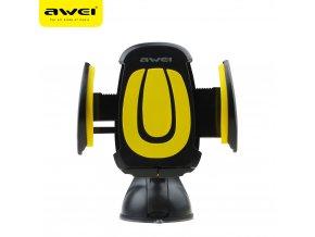 Univerzální držák mobilu do auta AWEI černo žlutý