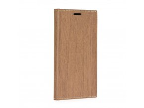 Pouzdro Forcell WOOD Book Huawei Y6 2017 hnědé