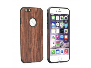 Pouzdro Forcell WOOD Apple Iphone 5/5S/SE tmavé
