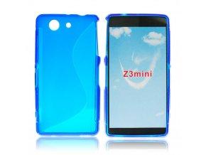 Pouzdro Back Case Lux - Sony D5803 Xperia Z3 mini modré vzor S