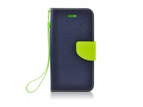 Fancy pouzdro Book - Xiaomi Mi4 - modré/limetkové