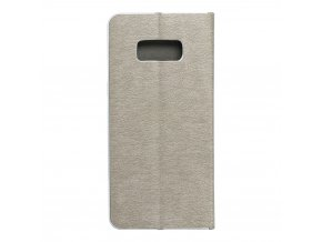 Pouzdro Forcell Luna Book Samsung Galaxy S8 stříbrné
