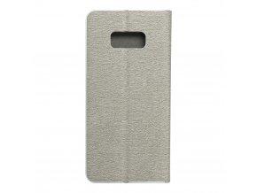 Pouzdro Forcell Luna Book Samsung Galaxy S8 Plus stříbrné