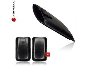 Pouzdro Forcell Leather Slim - MAGNETIC - Samsung i9300/i9500 S4 Black / černé