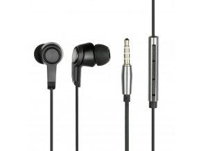Sada HF / Stereo sluchátka Mega TUNE černé (Jack 3,5 mm)