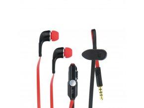 Stereo sluchátka - HF Blue Star Sport IN60 univerzální 3,5 mm černé/ červené