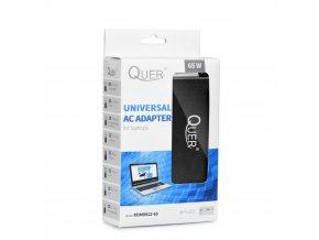 Univerzální síťový zdroj QUER pro Notebook / Laptop / 8 koncovek 65W 18-20V / automatický (KOM 91265)
