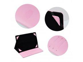 """Univerzální pouzdro BLUN pro tablet 8"""" (UNT) - růžové"""