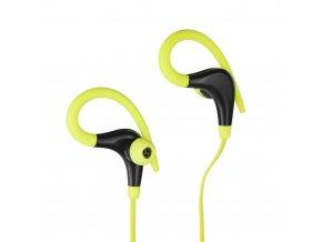 Stereo sluchátka Bluetooth s mikrofonem AP-BX61 - černé/ limonka