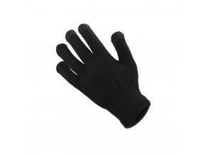 Rukavice pro dotykové obrazovky (dámská 18x11 cm) - černá