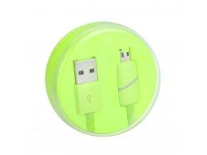 Kabel USB s micro USB konektorem - limetkový