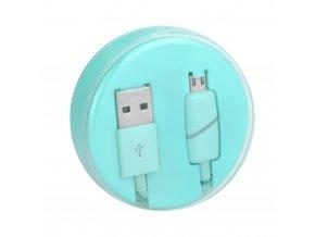 Kabel USB s micro USB konektorem - mátový