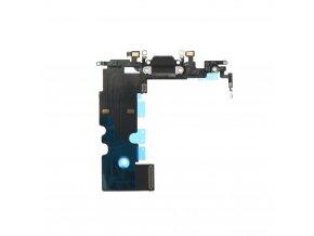 """Flex Kabel konektoru nabíjení pro Apple iPhone 8 (4.7"""") vč. mikrofonu - černá"""