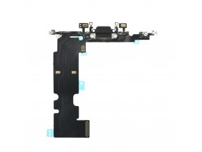 """Flex Kabel konektoru nabíjení pro Apple iPhone 8 Plus (5.5"""") vč. mikrofonu - černá"""