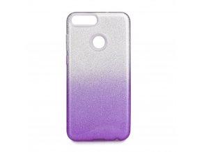 Pouzdro Forcell SHINING Huawei P SMART transparentní fialové