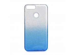 Pouzdro Forcell SHINING Huawei P SMART transparentní modré