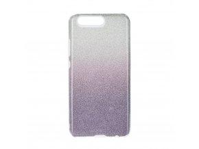 Pouzdro Forcell SHINING Huawei P10 transparentní/fialové