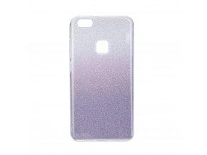 Pouzdro Forcell SHINING Huawei P10 LITE transparentní/fialové