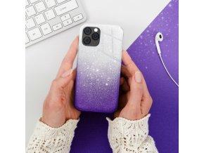 Pouzdro Forcell SHINING Huawei P20 LITE transparentní/fialové