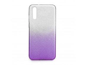 Pouzdro Forcell SHINING Huawei P20 transparentní/fialové