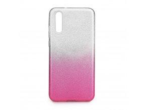 Pouzdro Forcell SHINING Huawei P20 transparentní/růžové
