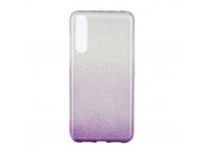 Pouzdro Forcell SHINING Huawei P20 PRO transparentní/fialové