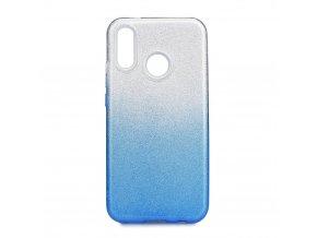Pouzdro Forcell SHINING Huawei P20 LITE transparentní/modré