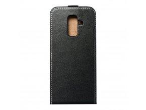 Forcell pouzdro Slim Flip Flexi FRESH pro Samsung A6 Plus černé