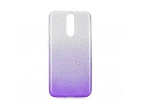 Pouzdro Forcell SHINING Huawei Mate 10 LITE transparentní/fialové