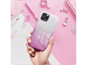 Pouzdro Forcell SHINING Huawei P20 LITE transparentní/růžové