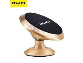 Univerzální magnetický držák mobilu do auta AWEI X6 - zlatý