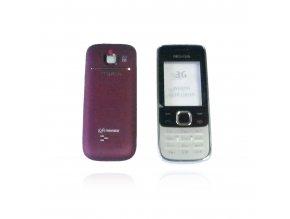 Kryt Nokia 2730 Classic (Přední+Zadní vč. Klávesnice) - stříbrný/fialový