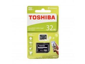 TOSHIBA Paměťová karta microSDHC 32GB M203 Class 10 UHS-I U3 (100MB/s) + adapter SD