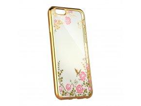 Pouzdro Forcell DIAMOND case Samsung Galaxy A6 Plus zlaté