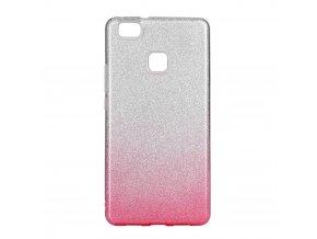 Pouzdro Forcell SHINING Huawei P9 Lite MINI transparentní/fialové