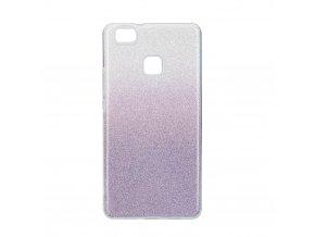 Pouzdro Forcell SHINING Huawei P9 LITE transparentní/fialové