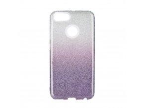 Pouzdro Forcell SHINING XIAOMI Redmi 5X / A1 transparentní/fialové
