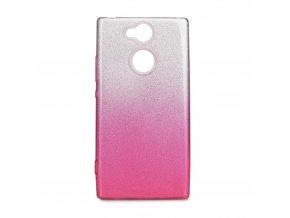 Pouzdro Forcell SHINING Sony Xperia XA2 transparentní/růžové