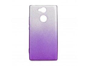 Pouzdro Forcell SHINING Sony Xperia XA2 transparentní/fialové