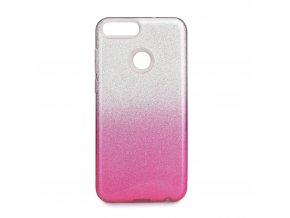 Pouzdro Forcell SHINING Huawei P SMART transparentní/růžové