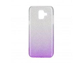 Pouzdro Forcell SHINING Samsung Galaxy A6 transparentní/fialové