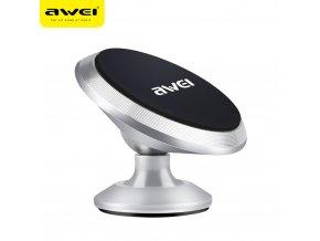 Univerzální magnetický držák mobilu do auta AWEI X6 - stříbrný