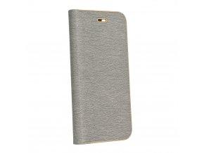 Pouzdro Forcell Luna Book Huawei P20 stříbrné