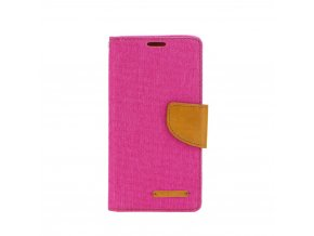 Pouzdro Canvas Mercury Book pro Samsung A6 Plus růžové