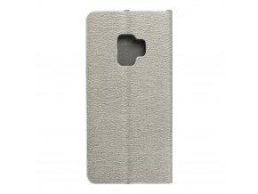 Pouzdro Forcell Luna Book Samsung Galaxy Galaxy S9 stříbrné